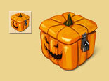 Helloween pumpkin chest by Vadich