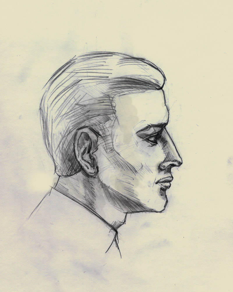 Man profile by Vadich on DeviantArt