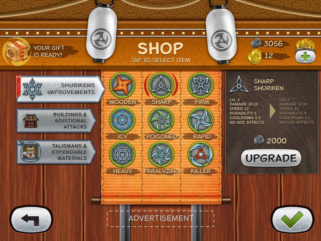 Ninja Defender Game Shop UI by Vadich