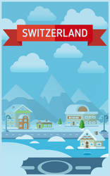 Flat style Switzerland background by Vadich