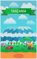 Flat style Tanzania background by Vadich