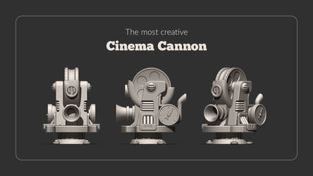 Cinema Cannon 3D Model