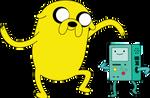 Jake and BMO(Bemoo) Dancing