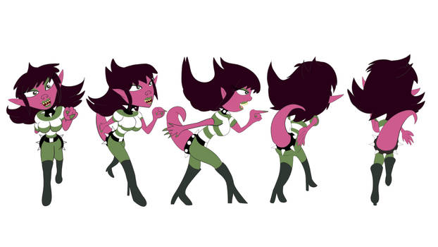 Early Character Design: Sandra Cooper