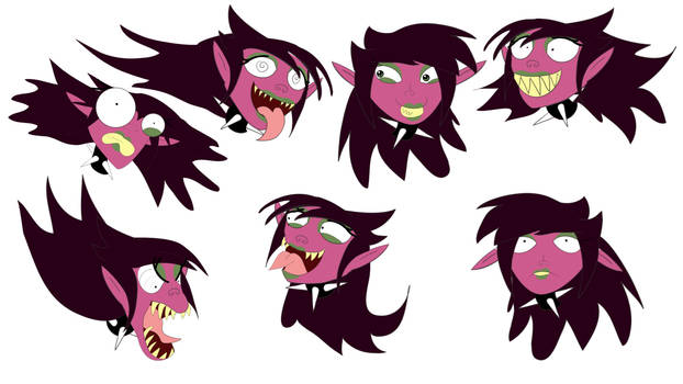 Early Character Concept: Sandra's Expressions