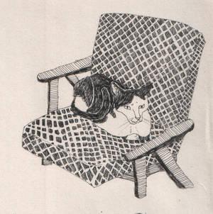 Joop op de stoel