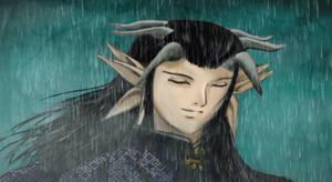 Listen to the Rain, King Yomi by KaoruMoonGoddess