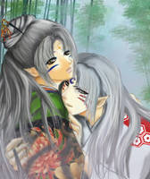 Sesshomaru and Kaoru by KaoruMoonGoddess