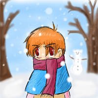 Kyou and the Snow by SilverSteel-Alchemis