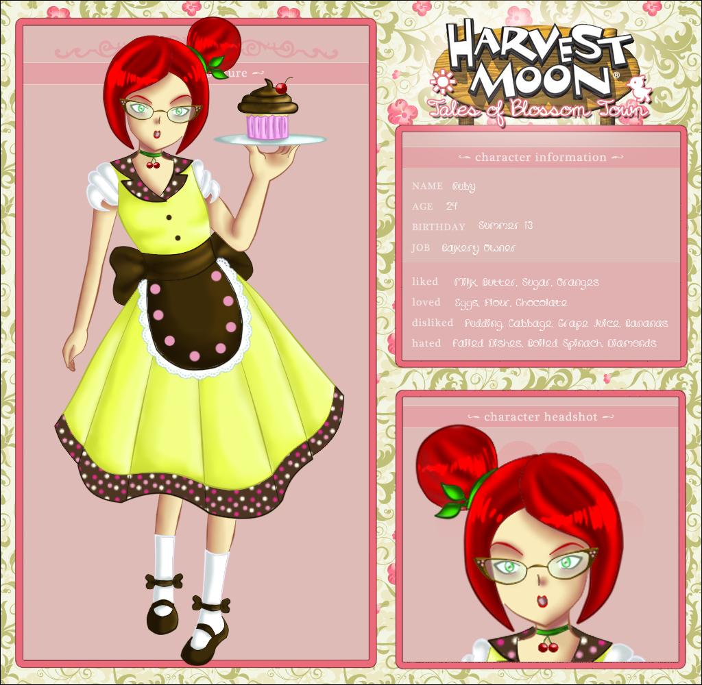 Blossom Town: Ruby by jiru-chan