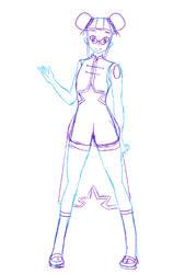 Crystal Gem OC WIP by jiru-chan