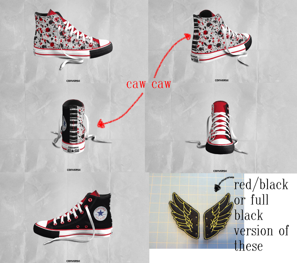 heinoustuck dave converse design by crowwfeathers