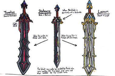 The Swords of Balance by lasercraft32