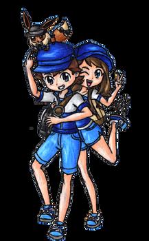 Pokemon Trainers Lasercraft and Juliet