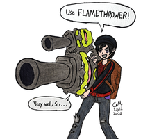 Use Flamethrower