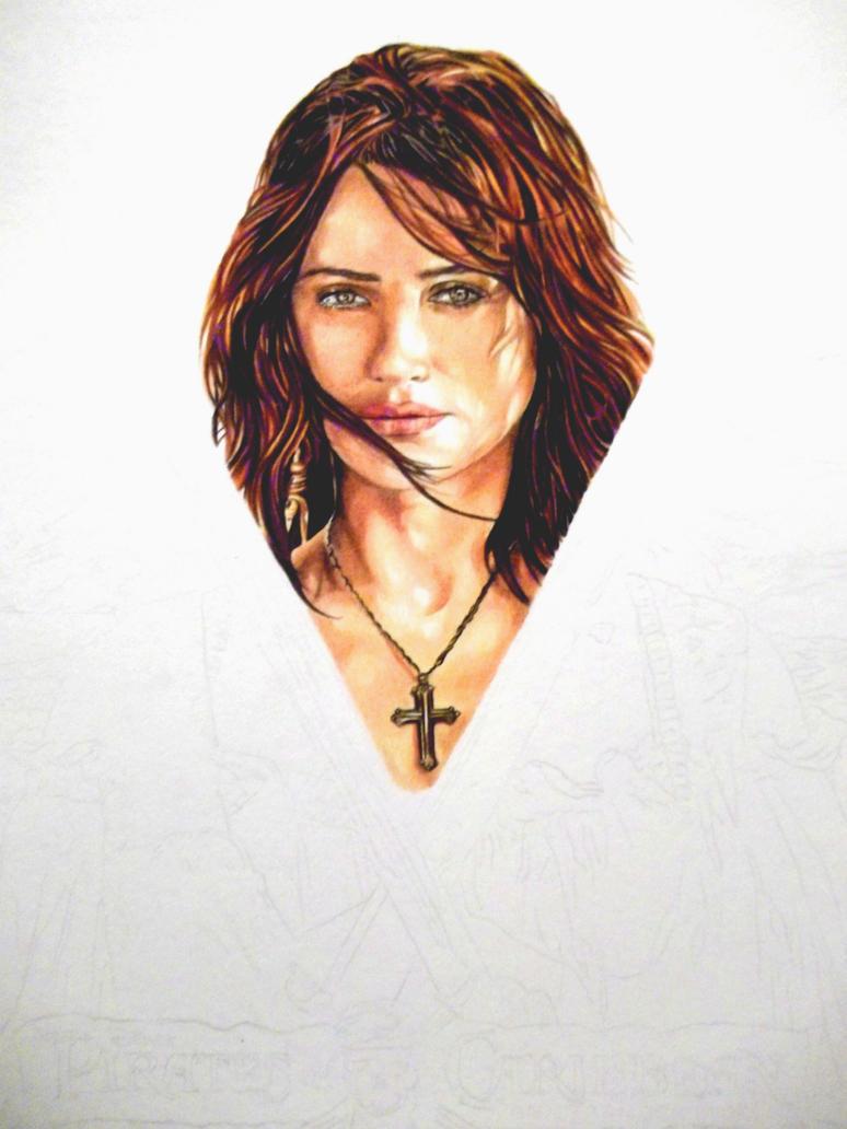 Penelope Cruz WIP 02 by BismarSantiago