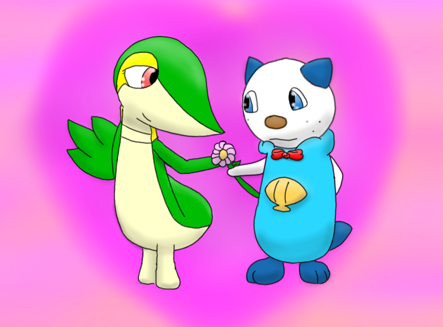 Snivy And Oshawott Love