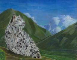 Lost snow leopard by Alayna