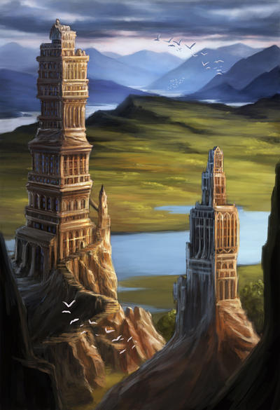 Carved Towers by Alayna