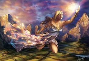 Hemera, Greek Goddess of Day by Alayna