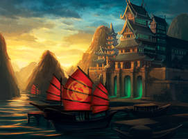The Fruitful Port of the Mantis by Alayna