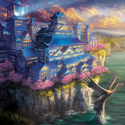 Exquisite Palace of the Crane v2 by Alayna