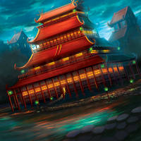 The Majestic Temple of the Phoenix by Alayna