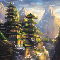 Fortified Monastery of the Dragon by Alayna