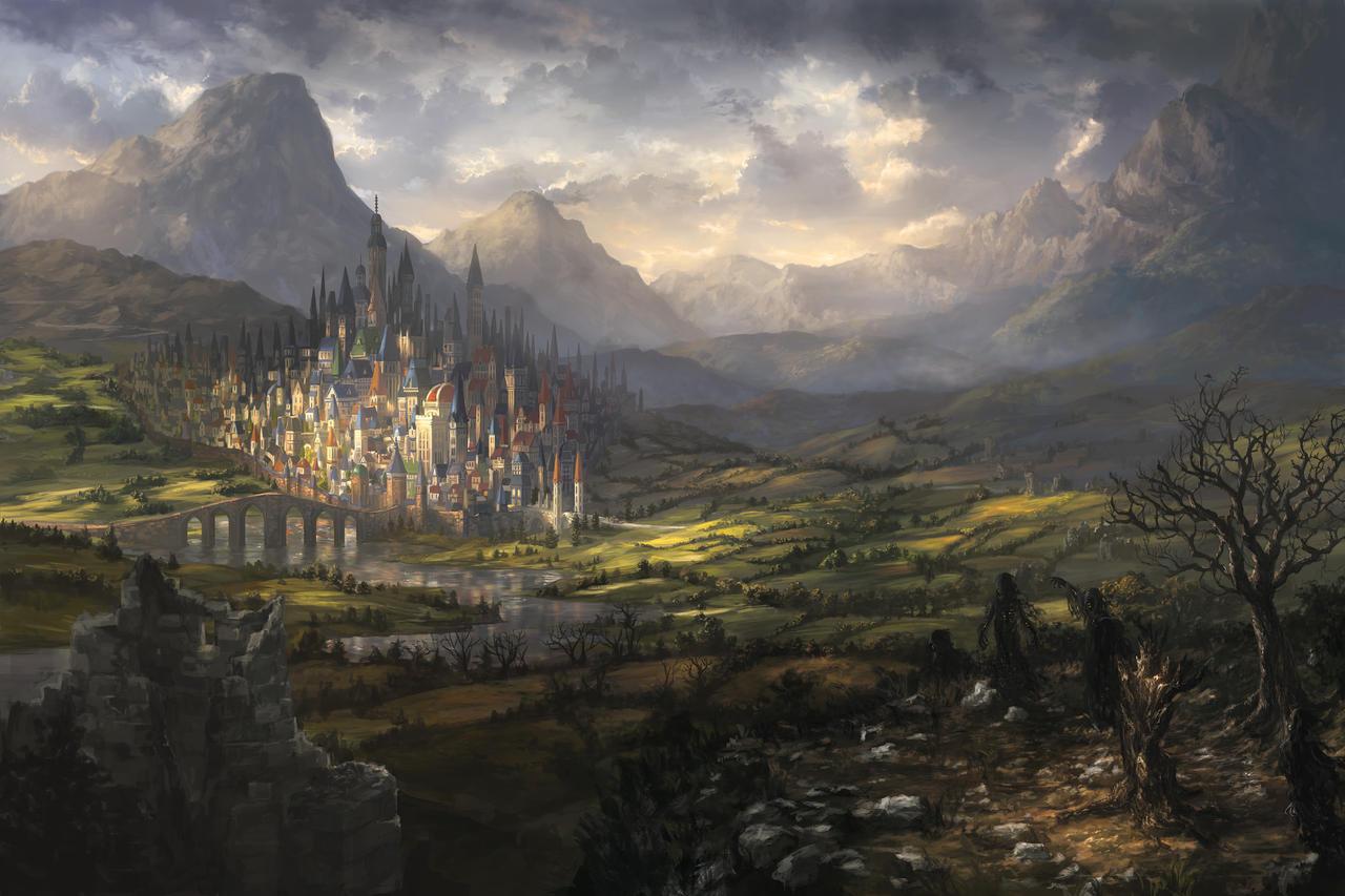 Edge of darkness cover by alayna on deviantart - Fantasy wallpaper bridge ...