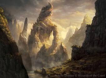 Magic: The Gathering card: Dragonskull Summit by Alayna