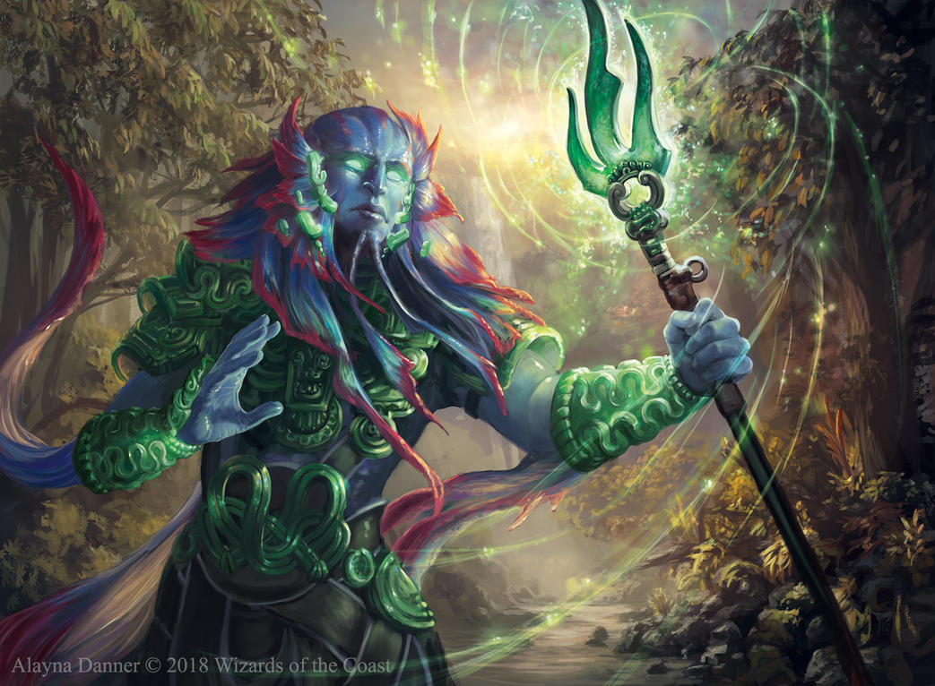 Magic: The Gathering- Riverwise Augur by Alayna