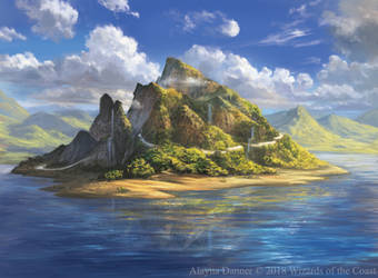 Magic: The Gathering- Island for M19 Standard