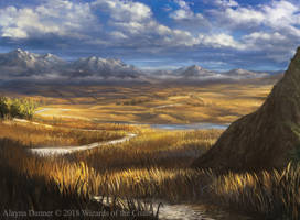 Magic: The Gathering- Plains for M19 Standard by Alayna