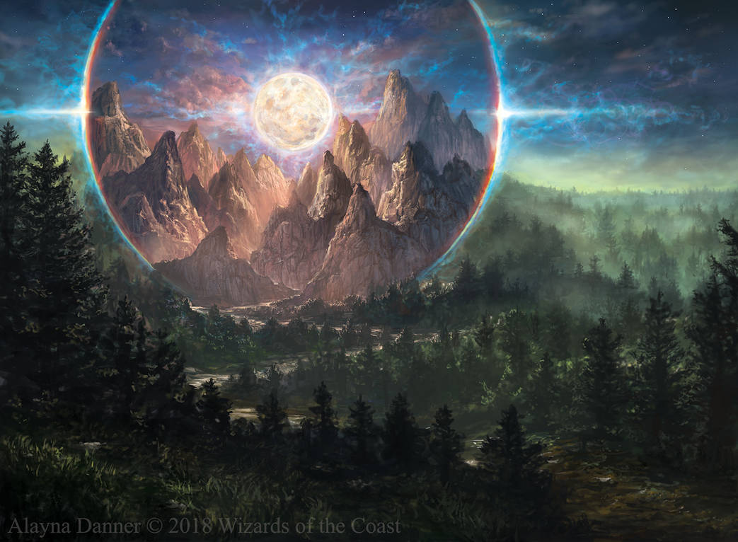 Magic: The Gathering- Alpine Moon from M19 by Alayna