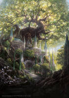 Temple Garden promo from Magic: The Gathering by Alayna