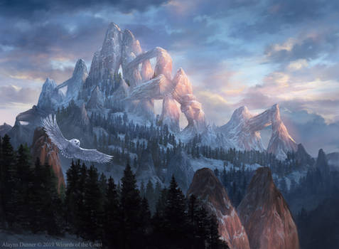 Snow-Covered Mountain from Magic: The Gathering
