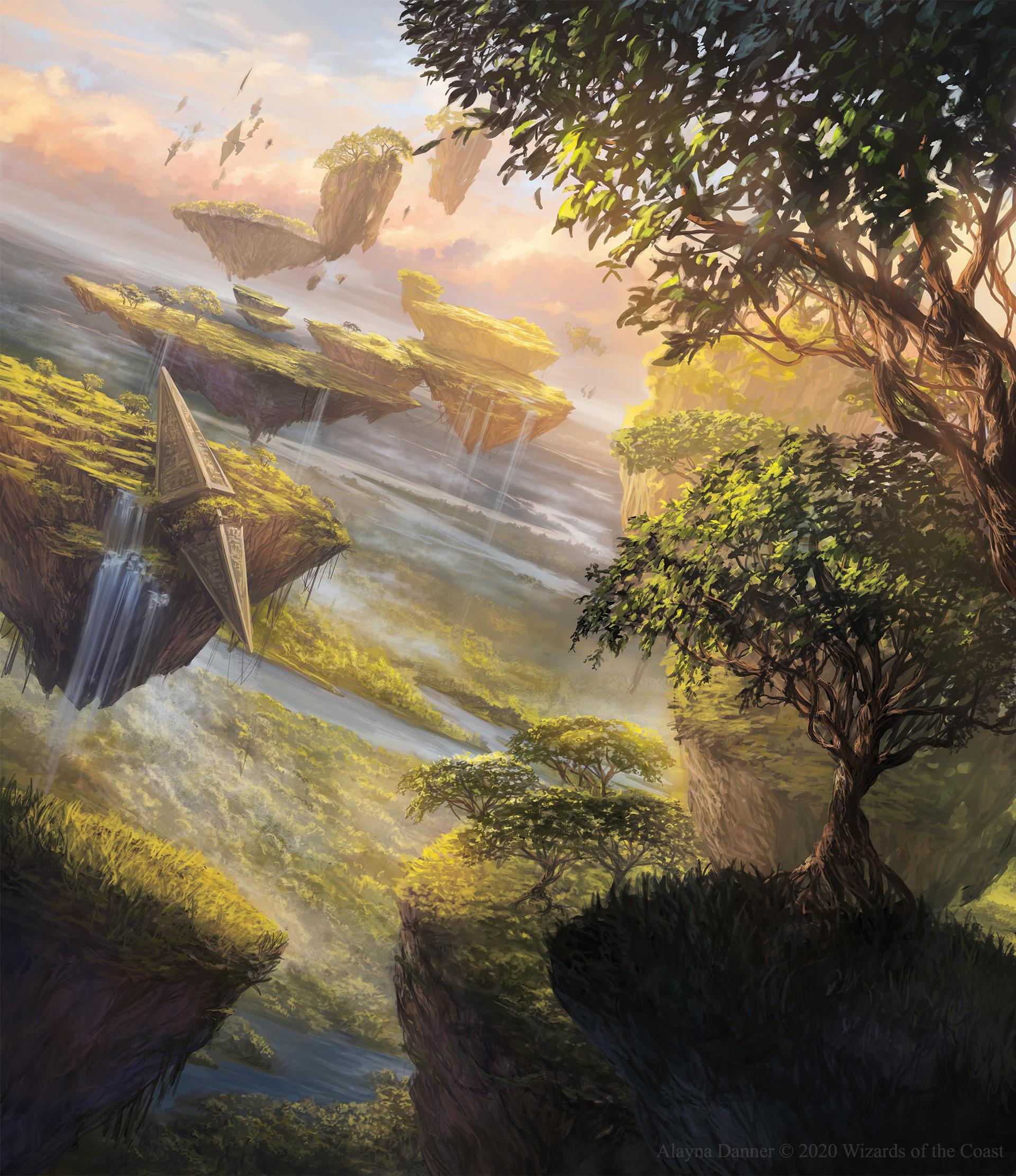 Deviant - art : une source d'inspiration pour nos univers ? - Page 3 Horizon_canopy_from_magic__the_gathering_zendikar_by_alayna_de6w96p-fullview.jpg?token=eyJ0eXAiOiJKV1QiLCJhbGciOiJIUzI1NiJ9.eyJzdWIiOiJ1cm46YXBwOjdlMGQxODg5ODIyNjQzNzNhNWYwZDQxNWVhMGQyNmUwIiwiaXNzIjoidXJuOmFwcDo3ZTBkMTg4OTgyMjY0MzczYTVmMGQ0MTVlYTBkMjZlMCIsIm9iaiI6W1t7ImhlaWdodCI6Ijw9MjIyMiIsInBhdGgiOiJcL2ZcLzAyMDliZDE4LTMxNjEtNDU3MC04NGM0LWU3NDE5ZTFmZGNlYVwvZGU2dzk2cC0zNmFmNDY4Mi0yYTNhLTQ0ZjMtOWNiOS03ZTkzMzQ0ZTg5ZDQuanBnIiwid2lkdGgiOiI8PTE5MjAifV1dLCJhdWQiOlsidXJuOnNlcnZpY2U6aW1hZ2Uub3BlcmF0aW9ucyJdfQ