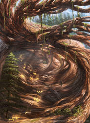 Slitherbore Pathway from Magic: The Gathering