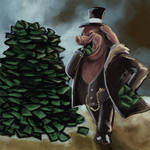 Illustration - Capitalism by Alayna