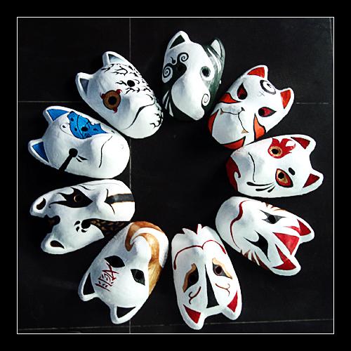 Cool Anime Masks...Cool Anbu Mask Designs