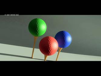 RGB golf balls.