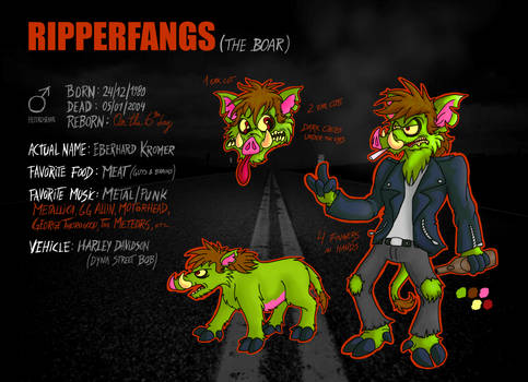 Ripperfangs Reference Sheet 2019