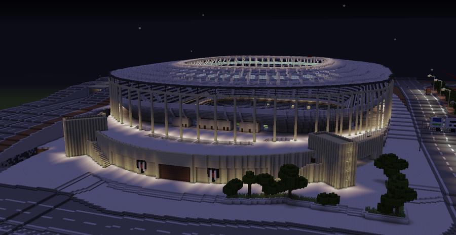 Besiktas Vodafone Arena Stadium in Minecraft - 1 by hvwn on DeviantArt
