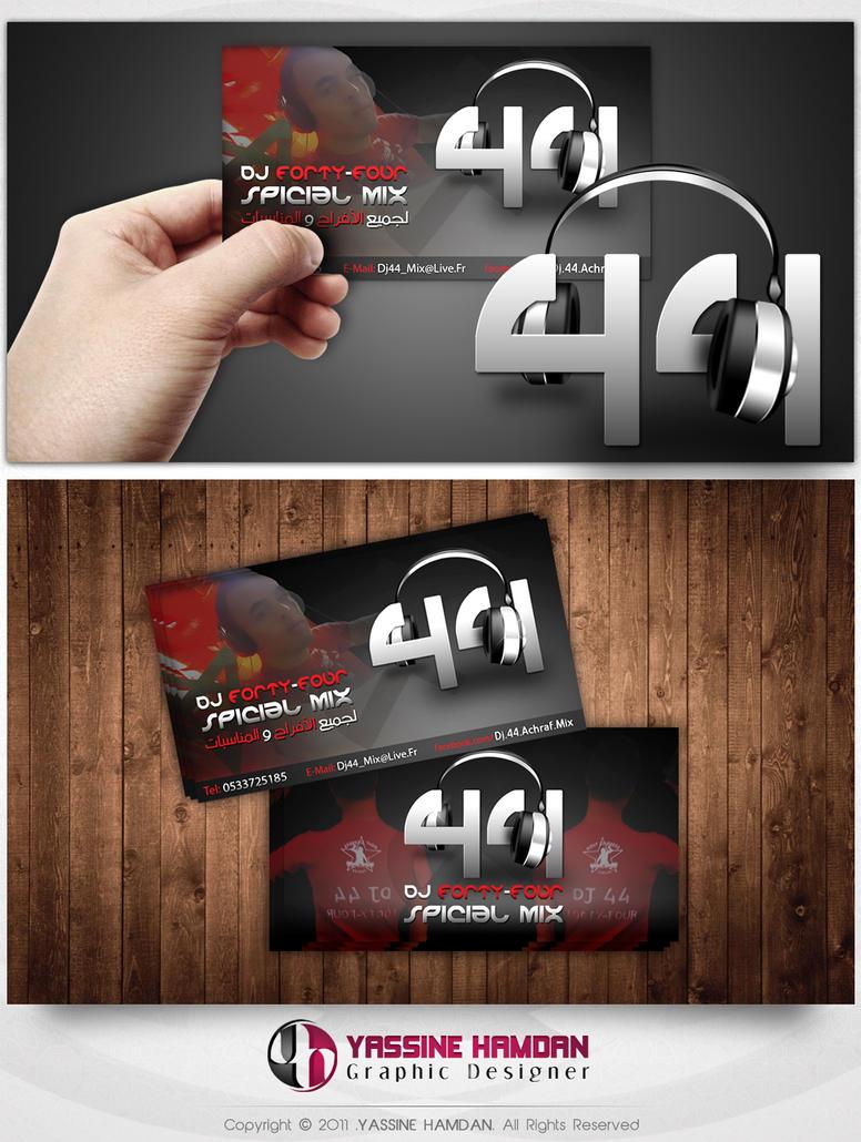dj 44 business card by hamdan graphics on deviantart