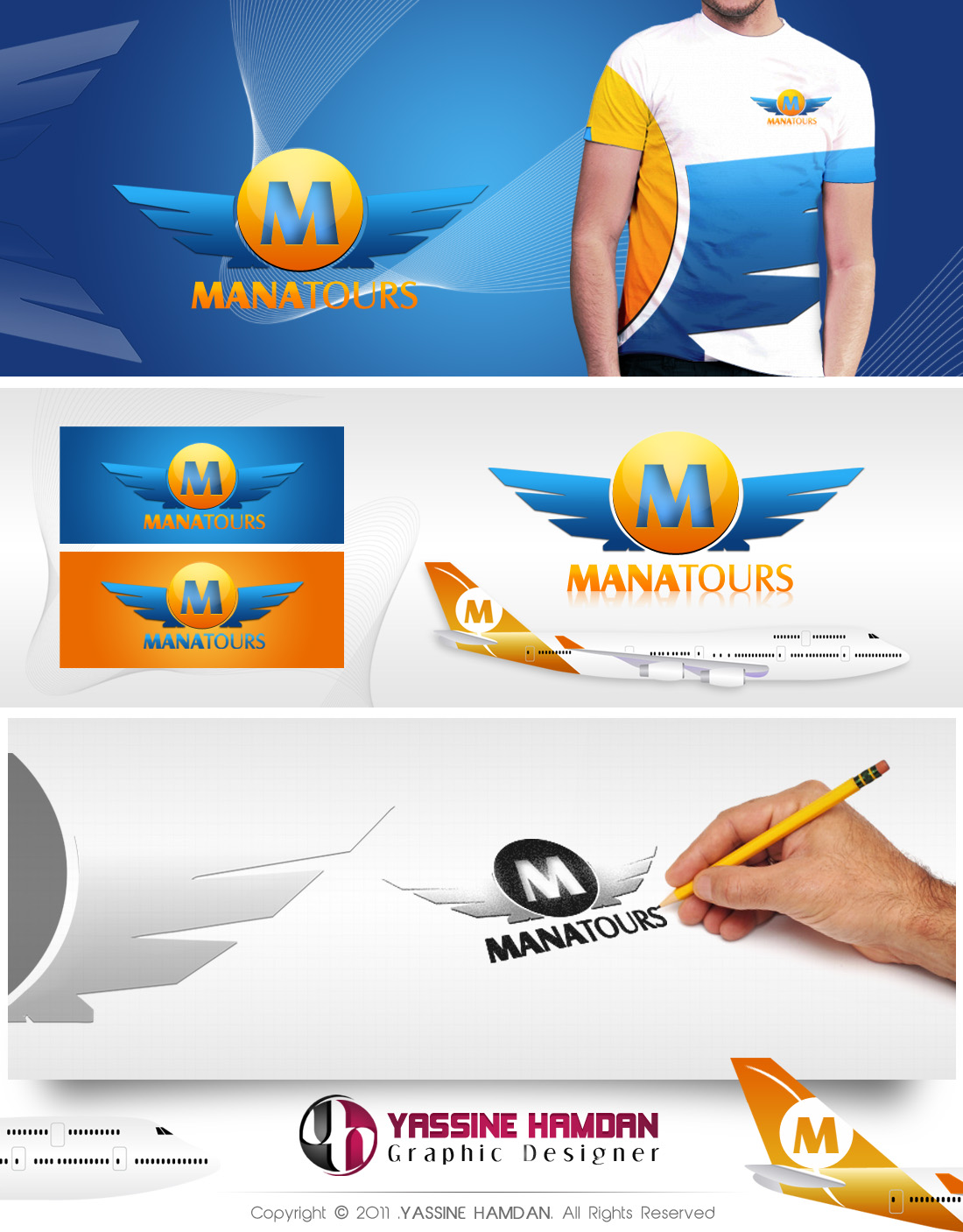 MANAtours Logo by Hamdan-Graphics