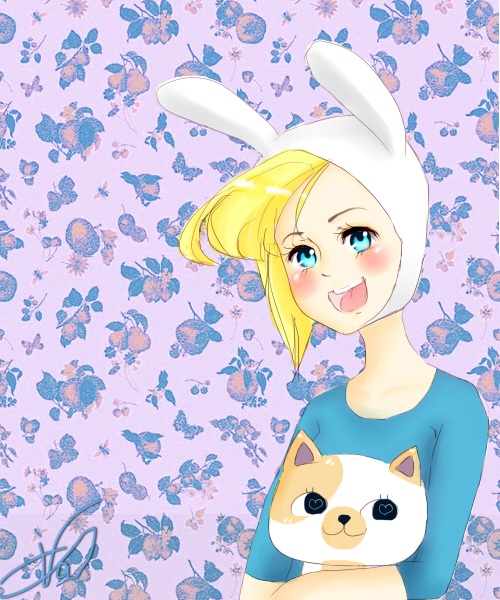 Fionna and cake by Lerie-Chan
