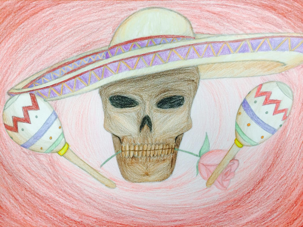 Skull with a sombrero by LordofTheSouls