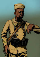 Senegalese soldier WW1 by timcatherall
