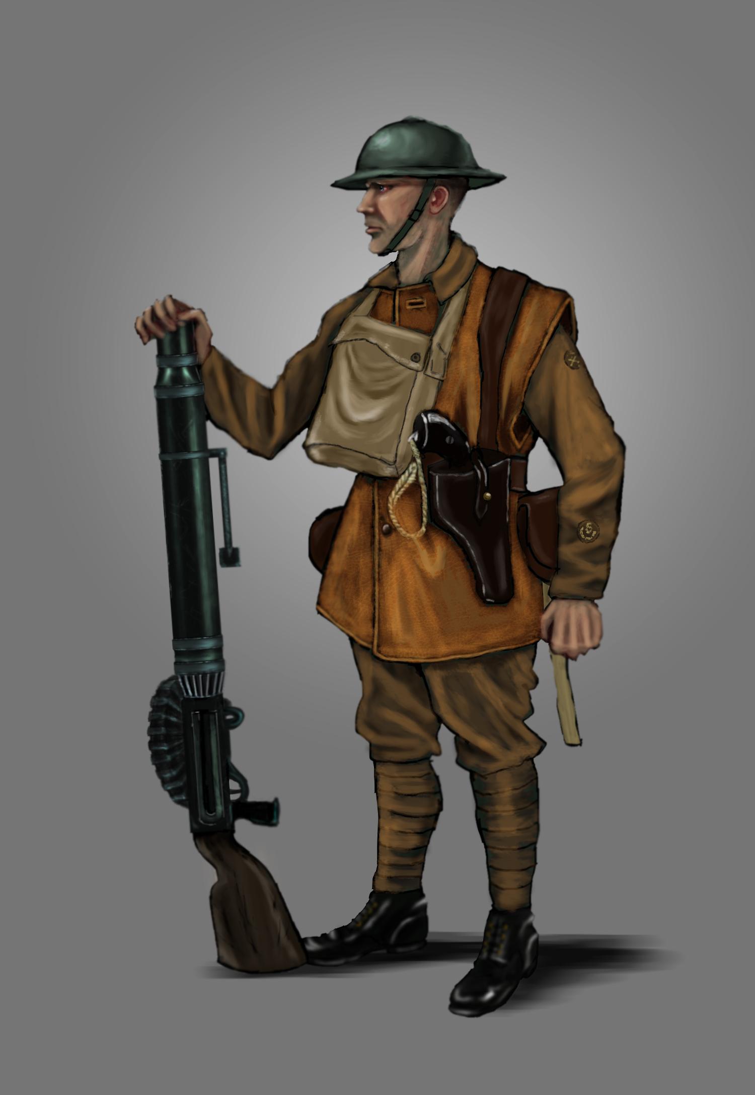 British Lewis Gunner WW1 by timcatherall