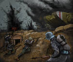 WW1 tank attack